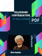 Telephone Conversation / Literary Techniques Power Point Presentation
