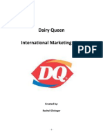 Dairy Queen International Marketing Plan