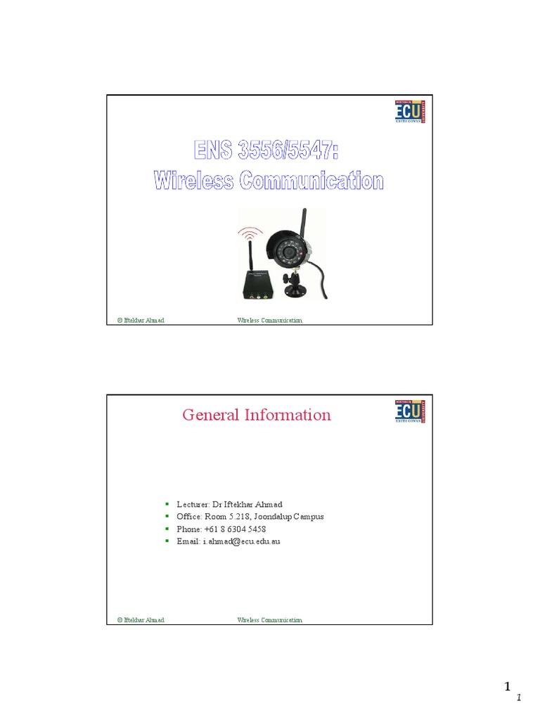 Lecture 5  Spread Spectrum  Demodulation  Equalizerl