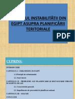 Impactul Instabilității Din Egipt Asupra Planificării Teritoriale