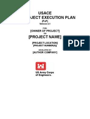 Usace Bim Project Execution Plan