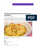 Cook as Cinco Receitas Que Precisa de Saber Com_ Esparguete – Observador