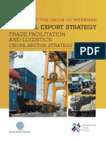 Myanmar NES_Trade Facilitation and Logistics