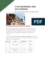 Estos Son Los Terremotos Más Grandes de La Historia