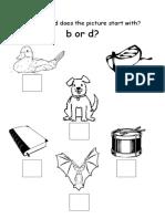 b & d Worksheet