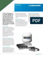 SAILOR 150 FleetBroadband Product Sheet