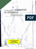 Arbeidsbok Til Håndbok I Grammatikk Og Språkbruk