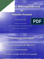 Anticoagulación Oral en Atención Primaria