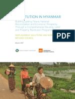 Restitution in Myanmar