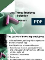 Unit 3 Employee Selection