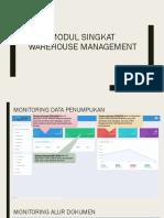 Modul Singkat Warehouse Management