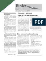 November-December 2008 Coulee Birder Newsletter Coulee Region Audubon Society