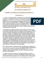 Instrução Dignitas Personae Sobre Algumas Questões de Bioética