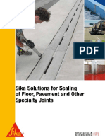 Sika Solutions for Sealing of Floor Joints