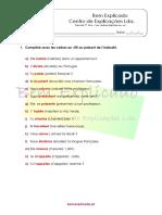 1.3 Ficha de Trabalho Les Verbes Réguliers en Er 3 Soluções