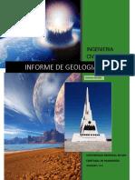 Informe Final de Geologia General