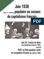 Juin 1936. Le FP Au Secours Du Capitalisme Français
