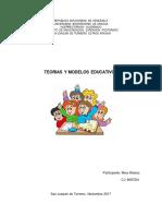 Unidad I Teorias y Modelos Educativos