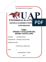 Monografia Origen y Evolucion Del EspaÑol UAP