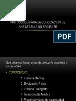 PROTOCOLO PARA LA COLOCACION DE ANESTESIA.pptx