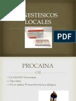 Anestesicos Locales En Odontología