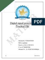 Digital Signal Processing Practical File