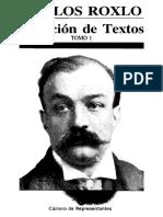 Selección Textos Roxlo - Prólogo de Ricardo Rocha Imaz