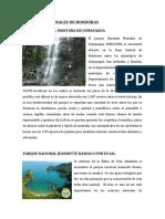 Parques Nacionales de Hondurasssss
