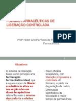 Liberação Controlada de Fármacos - Vetores e FFsólidas