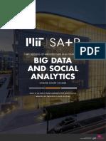 Mit Sap Big Data and Social Analytics Online Short Course Brochure