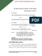 Del HC Tax Judgment