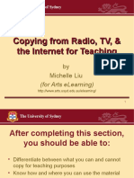 Copying from Radio, TV, and the Internet for Teaching
