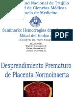 despredimiento prematuro de placenta