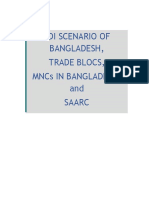 FDI SCENARIO OF BANGLADESH, TRADE BLOCS, MNCs IN BANGLADESH, and SAARC