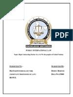 15068 Public International Law