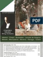 BOOKLET CD SEREBRIER conducts Granados. Concerto Málaga. SOMM Recordings