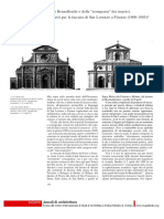 """Verso Brunelleschi o Della """"Scomparsa"""" Dei Maestri. Progetti Per La Facciata Di San Lorenzo a Firenze (1900-1905)"""
