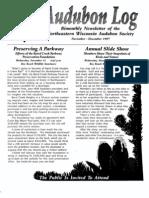 November 1997 Audubon Log Northeastern Wisconsin Audubon Society