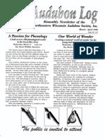 March 1998 Audubon Log Northeastern Wisconsin Audubon Society