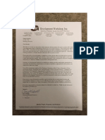 portfolio development contract
