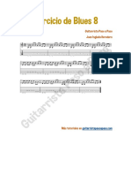 Ejercicio de Blues Nº 8 en PDF de GPAP