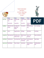 Preschool Calendar March 3