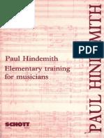 Ejercitacion - Paul Hindemith  - Entrenamiento elemental para músicos.pdf