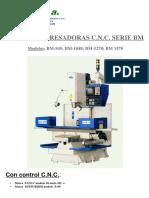 Micfa Fresadoras Catalogo Fresadoras Cnc Serie Bm 877465