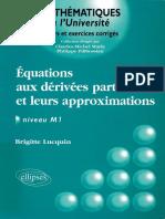 (Mathématiques à l'université) Lucquin, Brigitte-Equations aux dérivées partielles et leurs approximations-Ellipses (2004)