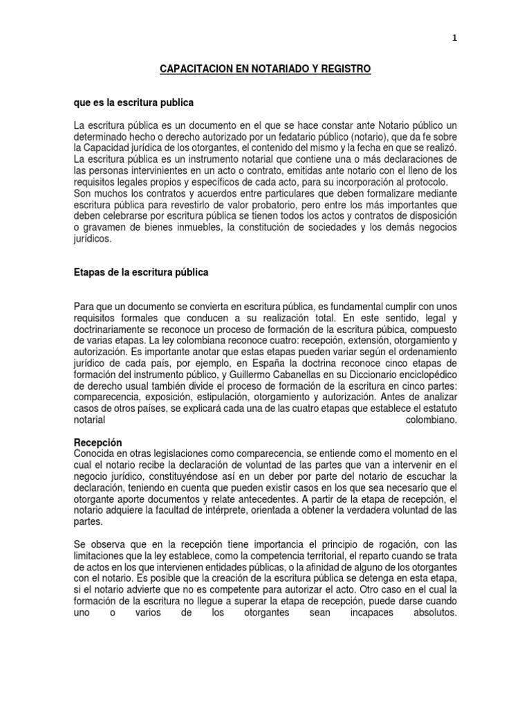 Capacitacion en Notariado y Registro