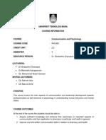 Course Plan 2014 communication