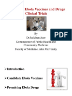 Updates in Ebola Vaccines and Drugs Clinical Trials
