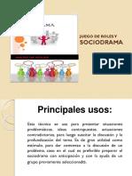 Juego de Roles y Sociodrama Diapositivas