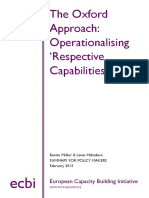 The Oxford Approach e Cbi Policy Brief